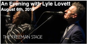 8.06 An Evening with Lyle Lovett Concert Transportation - Tuesday, August 6th, 2019